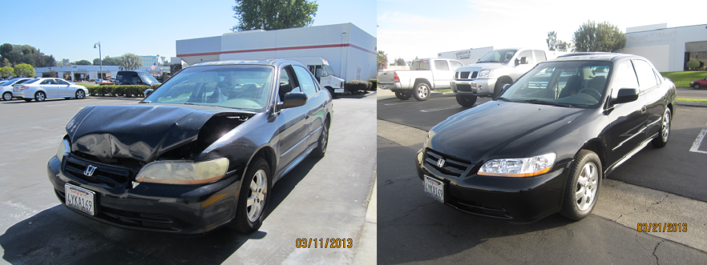 Car Accident Repairs Before And After