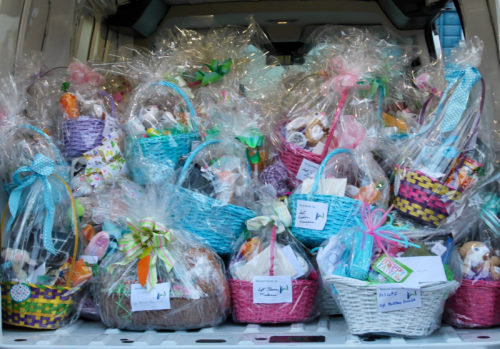 Easter baskets for our military in Camp Pendelton